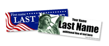 Political Candidate Bumper Stickers